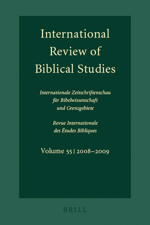 Cover International Review of Biblical Studies, Volume 55 (2008-2009)