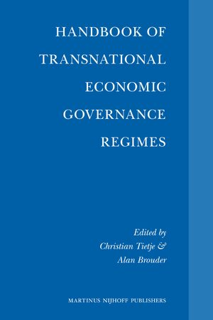 Cover Handbook of Transnational Economic Governance Regimes