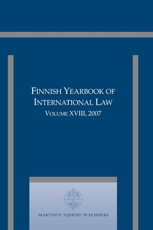 Cover Finnish Yearbook of International Law, Volume 18 (2007)