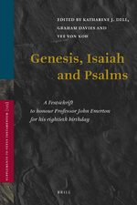 Cover Genesis, Isaiah and Psalms