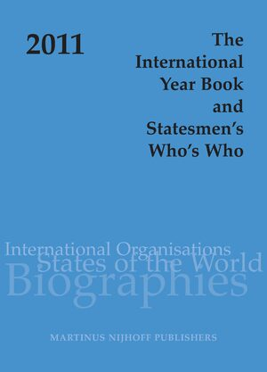 Cover The International Year Book and Statesmen's Who's Who 2011