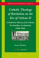 Cover Catholic Theology of Revelation on the Eve of Vatican II