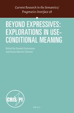 Cover Beyond Expressives: Explorations in Use-Conditional Meaning