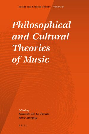 Cover Philosophical and Cultural Theories of Music