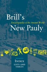 Cover Brill's New Pauly, Antiquity, Index