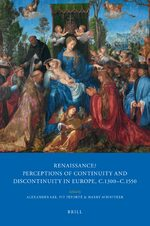 Cover Renaissance? Perceptions of Continuity and Discontinuity in Europe, c.1300- c.1550