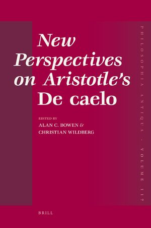 Cover New Perspectives on Aristotle's <i>De caelo</i>