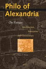 Cover Philo of Alexandria: On Virtues