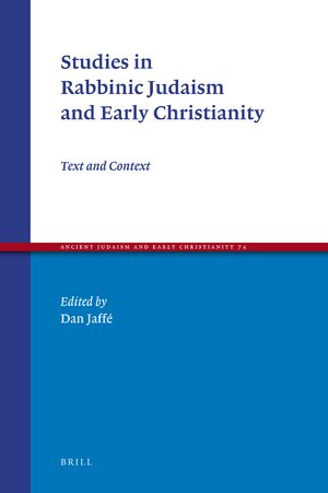 Cover Studies in Rabbinic Judaism and Early Christianity