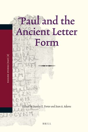 Cover Paul and the Ancient Letter Form
