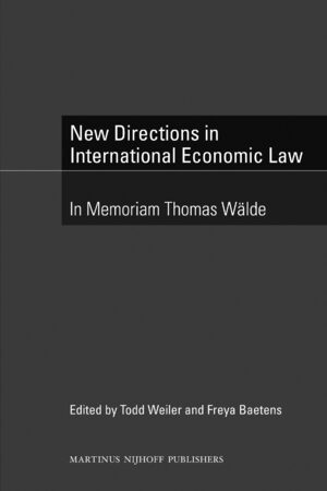 Cover New Directions in International Economic Law