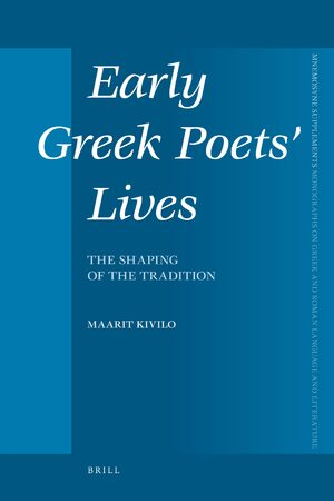 Cover Early Greek Poets' Lives