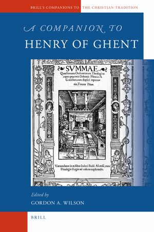 Cover A Companion to Henry of Ghent