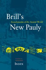 Cover Brill's New Pauly, The Classical Tradition, Index