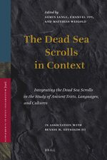 The Dead Sea Scrolls In Context (2 vols)