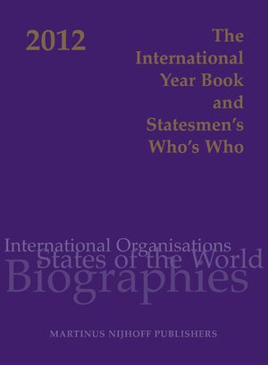Cover The International Year Book and Statesmen's Who's Who 2012