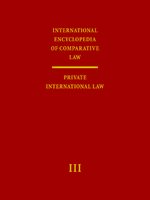 Cover International Encyclopedia of Comparative Law, Instalment 42