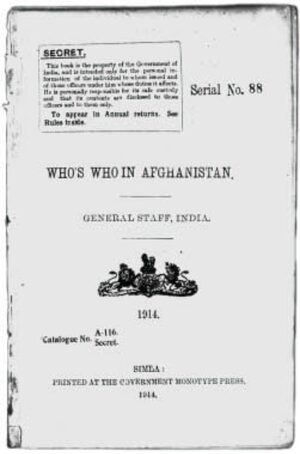 Cover British Intelligence on Afghanistan and Its Frontiers, c. 1888-1946