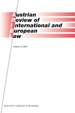 Cover Austrian Review of International and European Law, Volume 12 (2007)