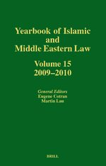 Cover Yearbook of Islamic and Middle Eastern Law, Volume 15 (2009-2010)