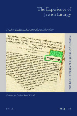 Cover The Experience of Jewish Liturgy
