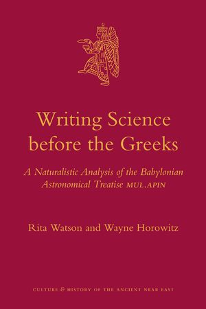 Cover Writing Science before the Greeks
