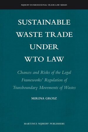 Cover Sustainable Waste Trade under WTO Law