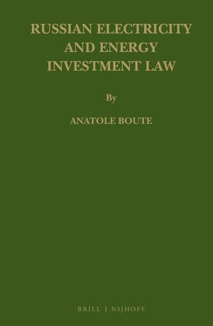 Cover Russian Electricity and Energy Investment Law