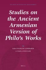 Cover Studies on the Ancient Armenian Version of Philo's Works