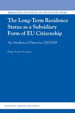 Cover The Long-Term Residence Status as a Subsidiary Form of EU Citizenship