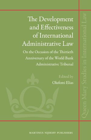 Cover The Development and Effectiveness of International Administrative Law