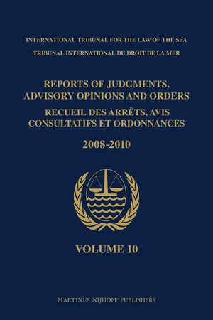 Cover Reports of Judgments, Advisory Opinions and Orders / Recueil des arrêts, avis consultatifs et ordonnances, Volume 10 (2008-2010)