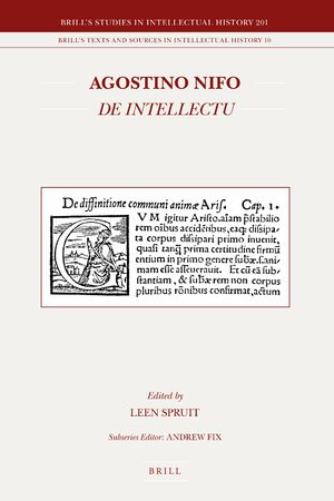 Cover Agostino Nifo <i>De intellectu</i>