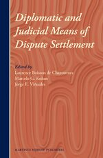 Cover Diplomatic and Judicial Means of Dispute Settlement