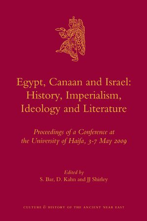 Cover Egypt, Canaan and Israel: History, Imperialism, Ideology and Literature