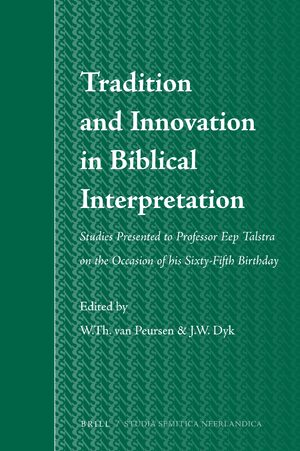 Cover Tradition and Innovation in Biblical Interpretation