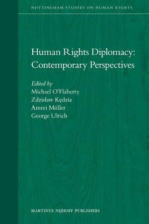 Human Rights Diplomacy: Contemporary Perspectives