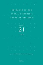 Cover Research in the Social Scientific Study of Religion, Volume 21