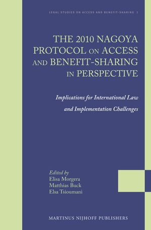 Cover The 2010 Nagoya Protocol on Access and Benefit-sharing in Perspective