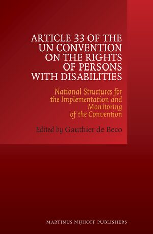 Cover Article 33 of the UN Convention on the Rights of Persons with Disabilities