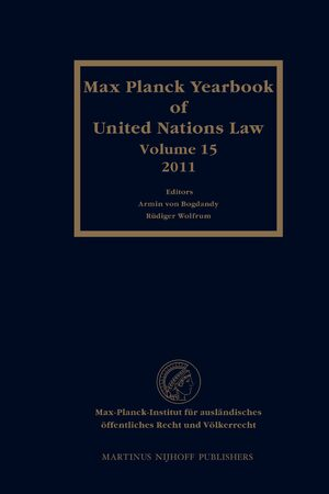 Cover Max Planck Yearbook of United Nations Law, Volume 15 (2011)