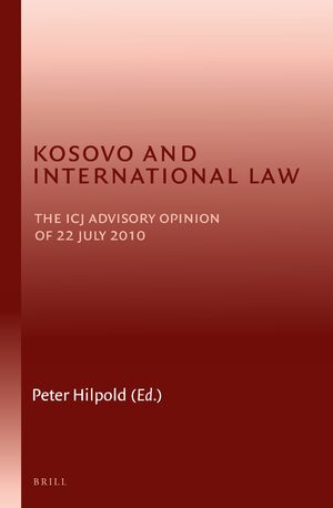 Cover Kosovo and International Law