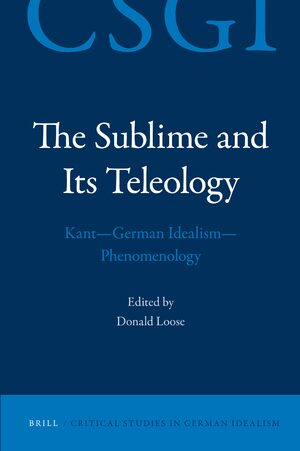 Cover The Sublime and its Teleology