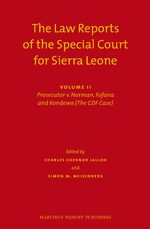 The Law Reports of the Special Court for Sierra Leone (2 vols.)