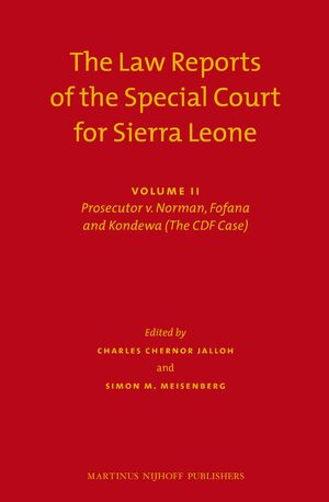 Cover The Law Reports of the Special Court for Sierra Leone (2 vols.)
