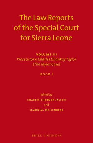 Cover The Law Reports of the Special Court for Sierra Leone