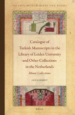 Cover Catalogue of Turkish Manuscripts in the Library of Leiden University and Other Collections in the Netherlands
