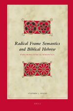 Cover Radical Frame Semantics and Biblical Hebrew