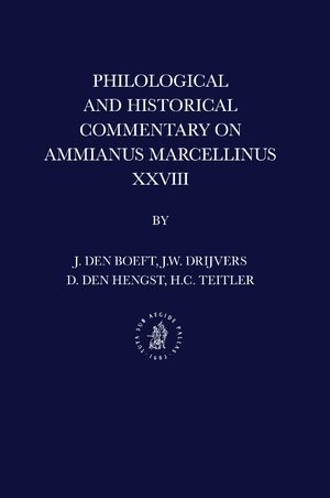 Cover Philological and Historical Commentary on Ammianus Marcellinus XXVIII