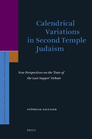 Cover Calendrical Variations in Second Temple Judaism
